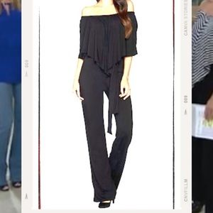 New In Package ❣️Laurie Felt Jumpsuit Black 1X